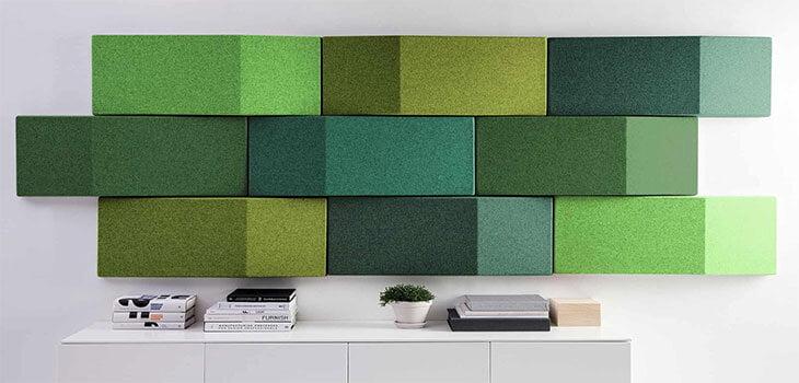 3d akustik kumaş kaplı panel