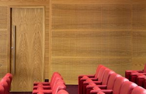 acoustic perforated wood panels
