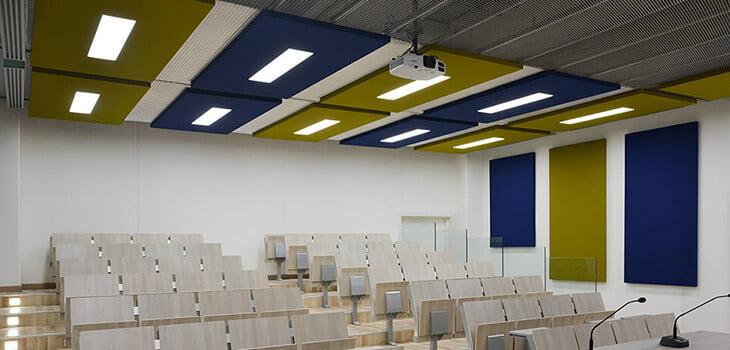 acrux akustik yüzer tavan paneli