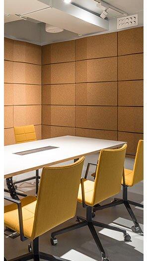 Akustik 3D Duvar Paneli Toplantı Odası