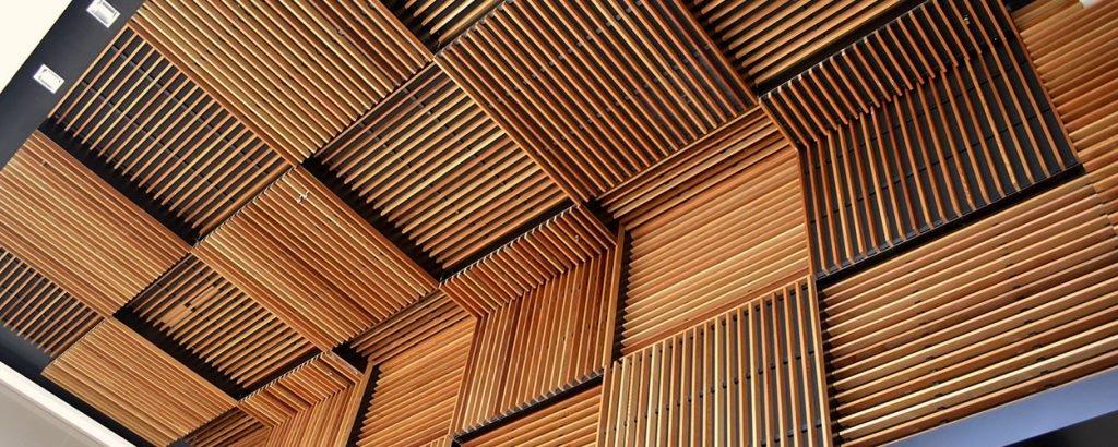 akustik ahşap asma tavan paneli