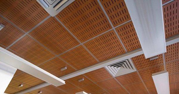 akustik ahşap asma tavan