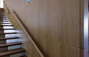 akustik ahşap delikli duvar panelleri