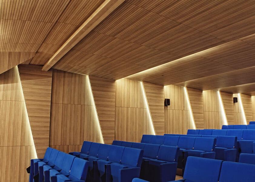 akustik ahşap derzli ses yalıtım panelleri