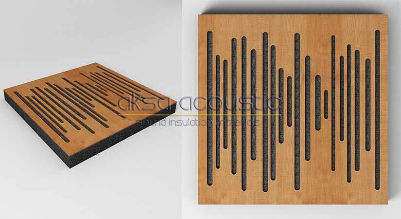 akustik ahşap difüzör panel stüdyo akustik malzemeleri