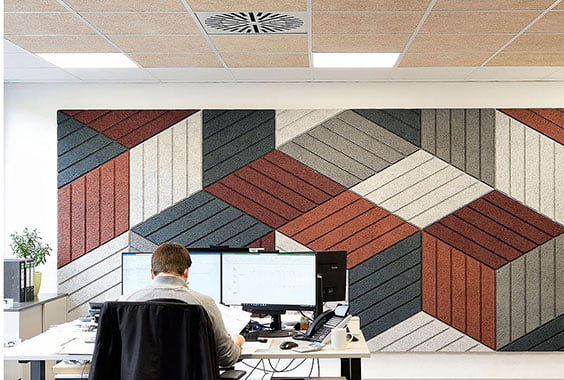 akustik ahşap panel ofis malzemeleri