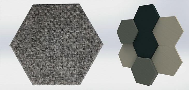 akustik altıgen kumaş kaplı panel fiyatları