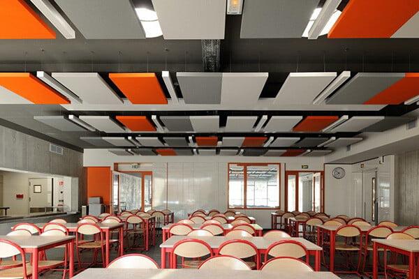 akustik canopy yüzer tavan panelleri