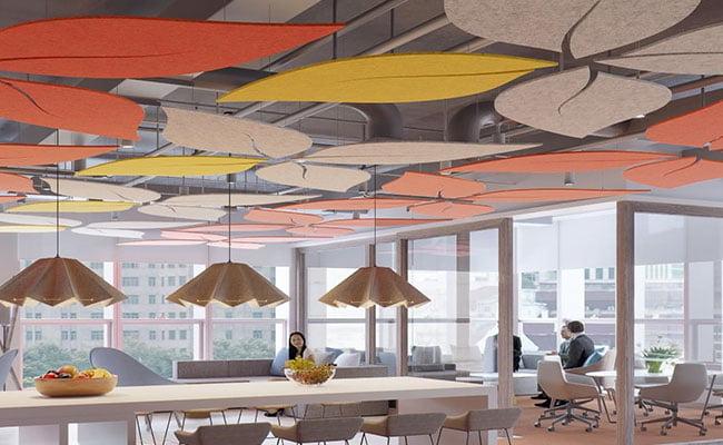 akustik keçe canopy yüzer tavan paneli