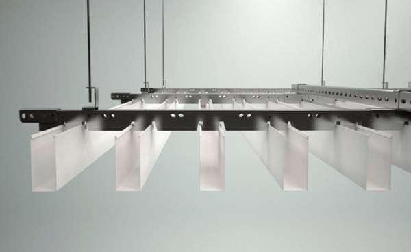 baffle tavan sistem detayı sarkmalı