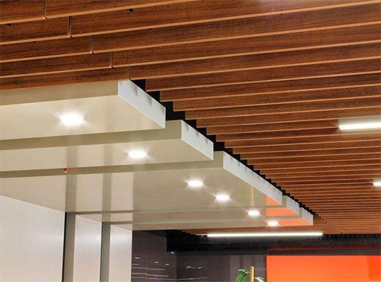 linear ahşap panel tavan kaplama