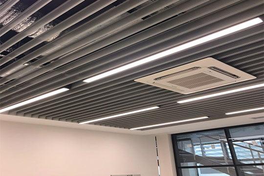 metal baffle asma tavan sistemleri