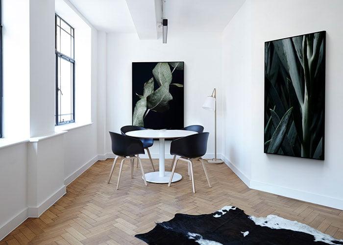 resimli akustik kumaş panel