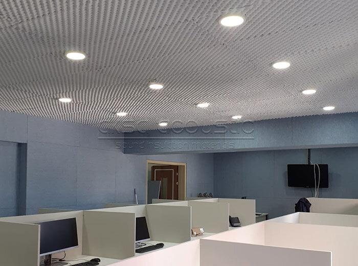 akustik basotect melamin sünger tavan kaplama